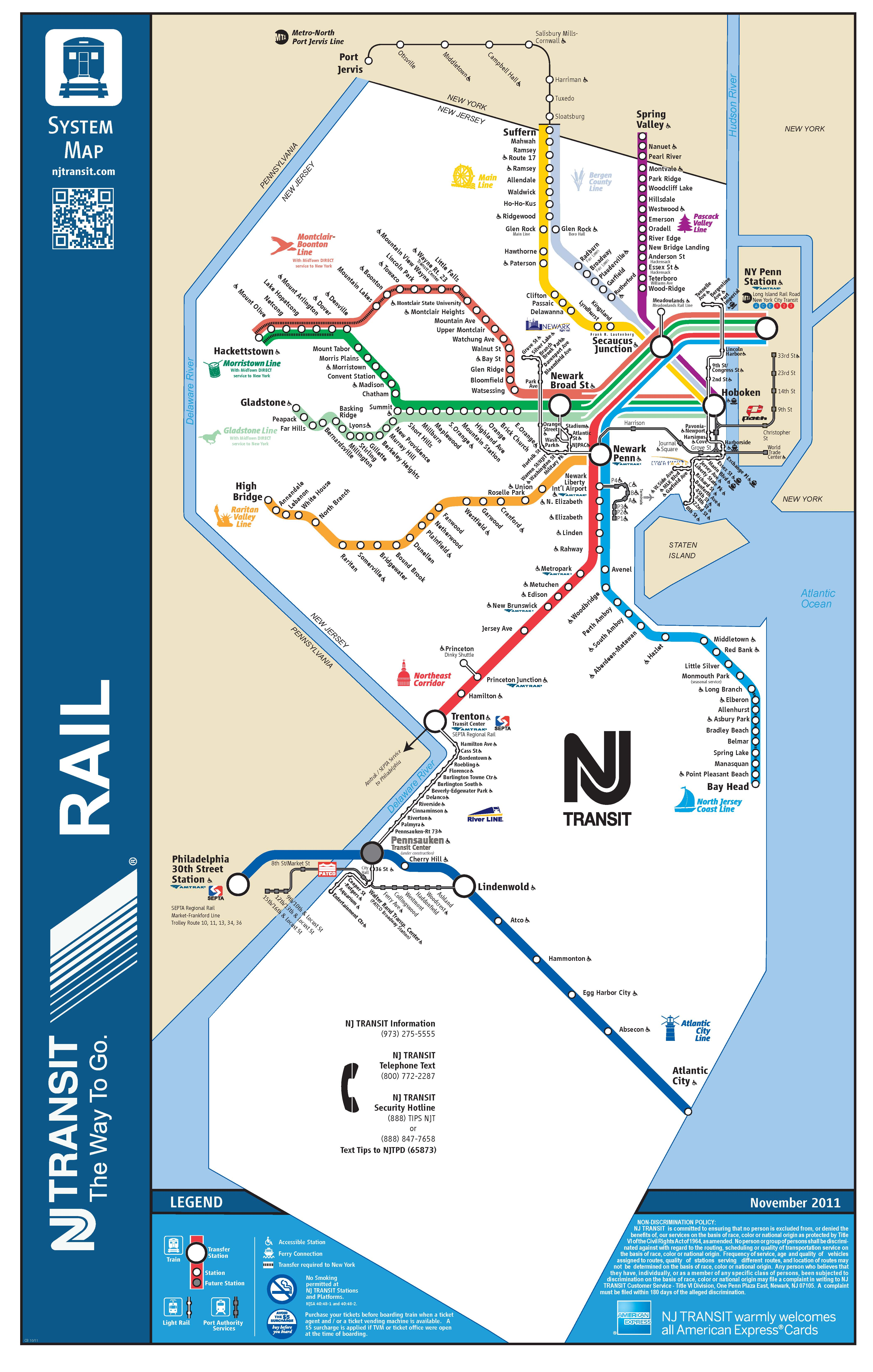 Nj Transit S New Map Greater Mercer Tma