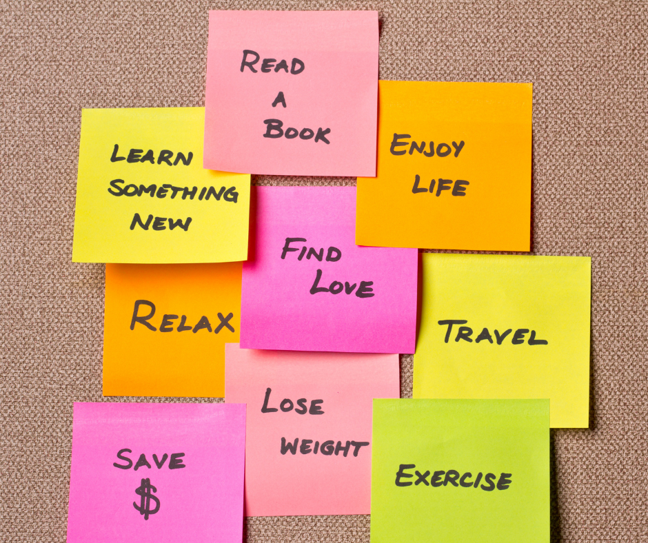 Sticky notes with resolutions